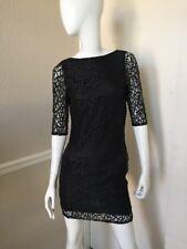 ASOS Petite NEW! Black Stretch Lace Lined Open Back Short Sheath Dress 6 NWOT!