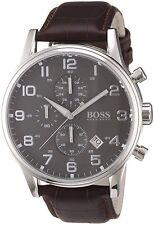Hugo BOSS HB 1512570 Orologio Uomo Marrone Pelle Orologio Da Polso Cronografo Orologio Elegante