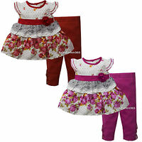 New Laura Ashley Baby Girls Outfit Clothes Top Legging Size 3 6 9 months