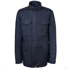 Pretty Green Jetson Mid Weight Cotton Military Jacket Navy Small