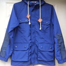 Urban Outfitters Koto Field Jacket Size Small Mens Blue Hooded Outerwear