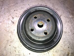 Chevy three row serpentine and V belt water pump pulley GM-14088986 Square Body