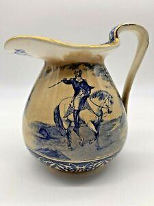 Rare 1907 Buffalo Pottery George Washington Pitcher Glazed and Gold Gilt