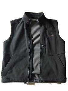 Simms Fishing Black Wind Stopper Fleece Lined Mens Medium Vest