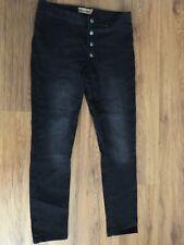 Janina Womens Black Skinny Jeans Size 14