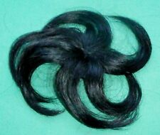"""doll wig/part cap/weaving black 6"""" circumference/hairlength approx. 4"""""""