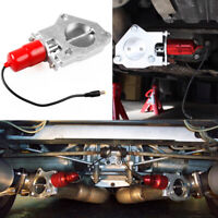 "2.5""/63mm Electric Exhaust Catback Downpipe Cutout E-Cut Out Valve Motor Red NEW"