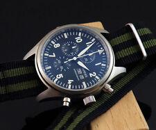 Parnis  42mm quartz Full chronograph mensStainless steel watch 1046