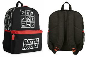 Battle Royale Bag Kid's Game Backpack Rucksack Bag - Black - New
