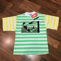 NEW Vtg 80s 90s Castaways NEON T-shirt Mens LARGE Jams Surf Skateboard L NOS NWT