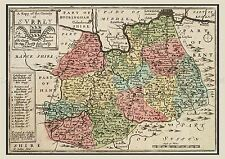 MAP 17TH CENTURY HOLLAR SURREY COUNTY ENGLAND LARGE REPLICA POSTER PRINT PAM0253
