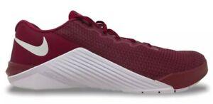 NEW Men's SZ 12.5, NIKE Metcon 5 Training Shoe DEEP MAROON WHITE AQ1189-692