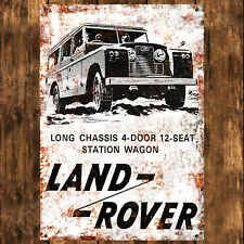 ALUMINIUM SIGN - 200MM X 285MM - LAND ROVER LONG CHASSIS