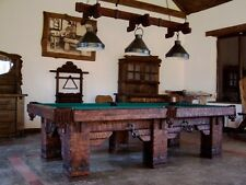 "9' ""Wild West"" Hand-Crafted Rustic Pool / Billiard Table for Log Home / Cabin"