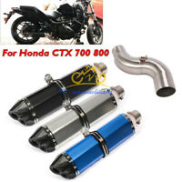 Motorcycle Exhaust System Muffler Escape Middle Link Pipe for Honda CTX700 800