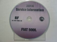 2014 CHRYSLER FIAT 500L Service INFORMATION Shop Manual CD DVD OEM BRAND NEW