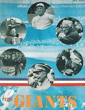 "1947 NY Giants Baseball Yearbook ""The Giants Of New York"" FAIR/GOOD"