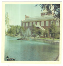 Vintage 60s PHOTO Independence Hall Duck Pond At Knott's Berry Farm