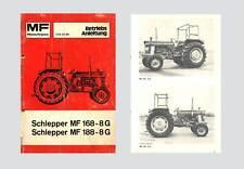 Massey Ferguson MF 168 188  Schlepper Betriebsanleitung Original
