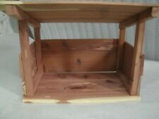 Nativity Stable/Shed/Barn Cedar Wood Floor Kindergarten/DayCare/Christmas Decor