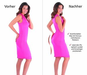 Damen Slip 3 er-Set Mehrfarbig Push up Panties Figur Body Apfelpo Po Push up XL