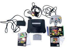 Nintendo 64 - N64 - Complete 1 controller & Super Mario 64 & Banjo Kazooie