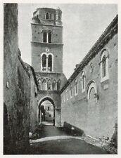 D1392 Caserta vecchia - Campanile - Stampa antica - 1928 old print