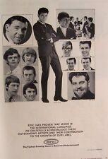 Epic Records 1965 Poster Ad The Yardbirds eric clapton Cliff Richard Shadows