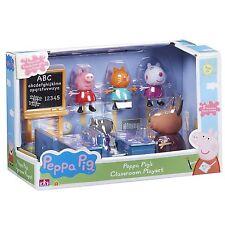 El aula de la Escuela Peppa Pig Peppa Conjunto de Juego Y Figuras Nuevo