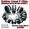 Rubber Lined P Clips - Wiring Hose Marine Pipe Cable Clamp Stainless Steel & BZP