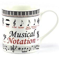 Notación musical Taza por Leonardo Fine China En Caja Regalo Ideal Para Amantes De La Música