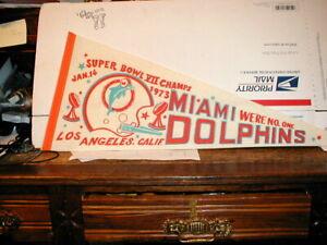VTG 1973 WORLD CHAMPIONS Miami Dolphins NFL Football AFL Pennant Super Bowl Rare