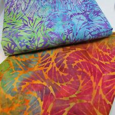 Dahlia Purple Island Batiks 2020 Cotton Fabric  Fat Quarter Makower