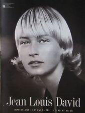 PUBLICITÉ 1990 JEAN-LOUIS DAVID - COIFFURE - ADVERTISING