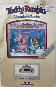 Teddy Ruxpin WOOLY AND THE GIANT SNOWZOS Book Cassette Tape NEW IN BOX WOW