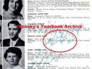 1953 ELVIS PRESLEY Inscribed Signed sr High School Yearbook ~ Heartbreak Hotel