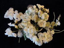"Vintage Millinery Flower Collection 3/4 -3"" White Green with Velvet Japan H1860"