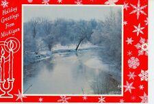 MICHIGAN HOLIDAY GREETINGS WINTER ALONG PINE RIVER J.PENROD  (CD#1*)