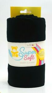 Kullaloo Super Soft Plüsch SHORTY schwarz black Stoff (0,75 x 1 m) 1,5mm