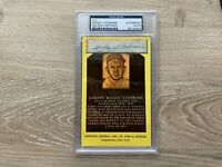 Mickey Cochrane Signed Auto HOF Plaque Cut - PSA/DNA Detroit Tigers
