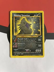 Shining Tyranitar 113/105 Neo Destiny Holo Secret Rare Pokemon Card