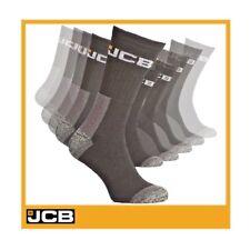 JCB Herren 12 Paar schwarze Socken offizielle Thermal Bauarbeiten Cotton