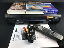Panasonic Omnivision Pv-V4612 Vcr 4 Head Vhs Recorder/Player Remote plus Extras!
