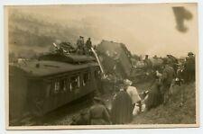 Railroad Train Wreck Disaster Vintage Photo Postcard