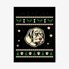 """Christmas Pudelpointer Gift Poster - 18""""x24"""""""