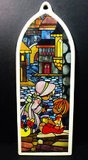 Precious Moments Porcelain Painted Stained Glass Holiday Ornament 1989 Pm-590