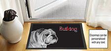 61cm x 40.6cm Bulldog Union Jack NOIR brouillon DESSIN Porte d'entrée