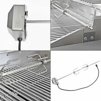 stainless steel rotisserie kit | embers spit rod electric motor off switch grill