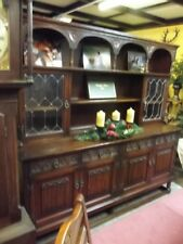 Vintage Old Charm Welsh Dresser Tudor Brown
