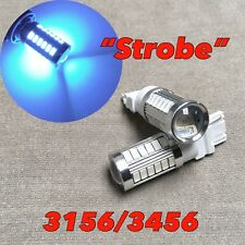 Strobe Flash Reverse Backup Light T25 3156 3456 4156 8K ICE BLUE LED Bulb W1 JA